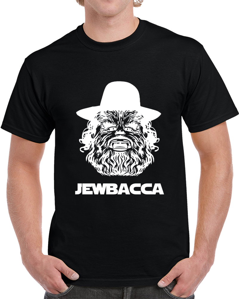Jewbacca White Jewish Chewbacca Clever Star Wars Hanukkah Shirt