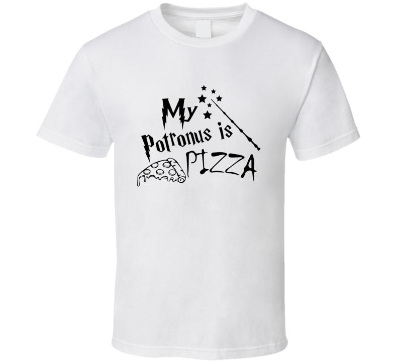My Potronus Is Pizza Funny Harry Potter Parody T Shirt