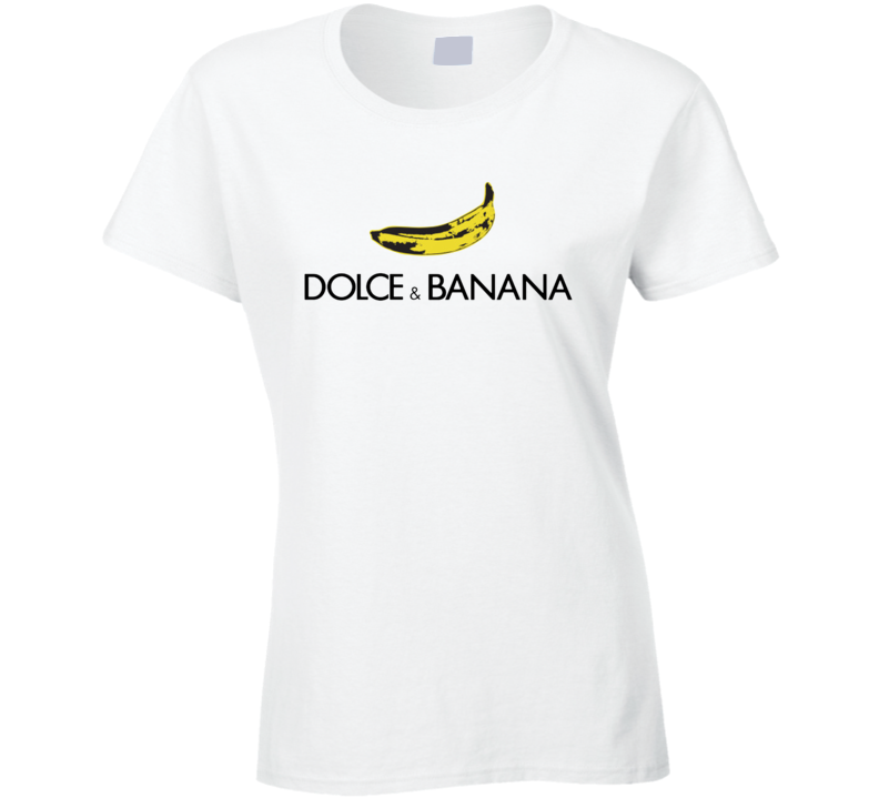 Dolce & Banana Funny Parody Ladies T Shirt