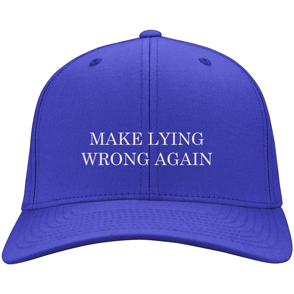 Make Lying Wrong Again Funny Democratic Parody Hat