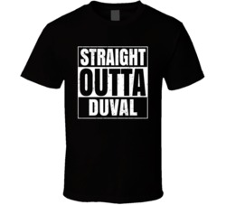 Straight Outta Duval High School Funny Compton Parody T Shirt