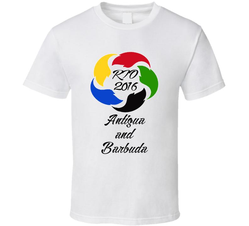 Antigua and Barbuda Olympics Rio 2016 Fan T shirt