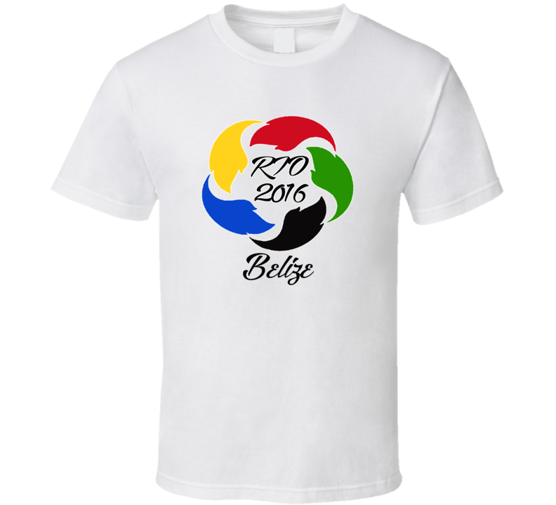 Belize Olympics Rio 2016 Fan T shirt