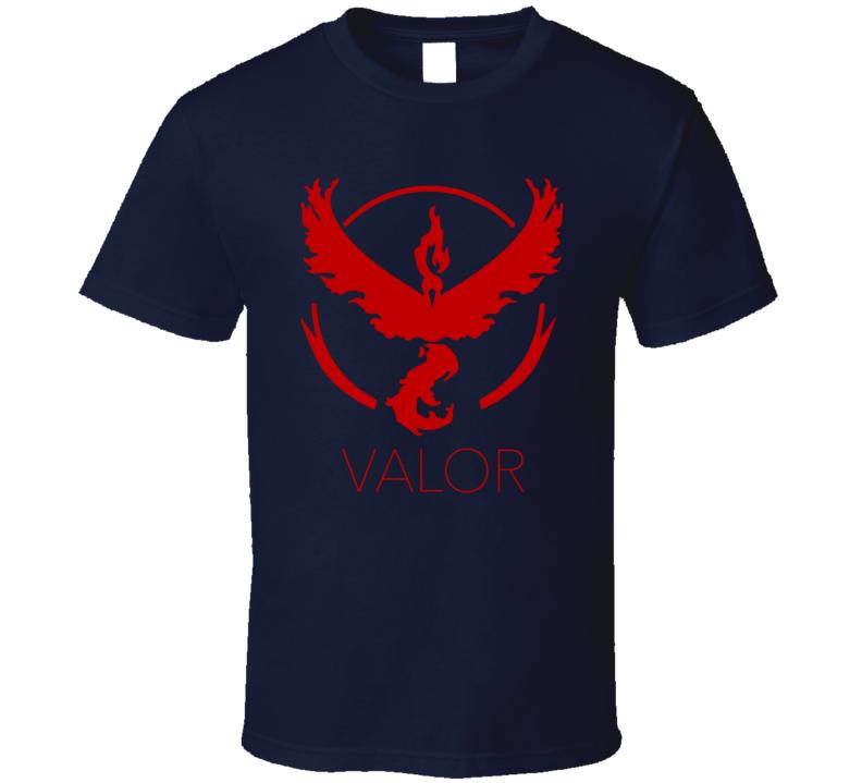 Team Valor Alt Pokemon Go Game App Trending Fan T Shirt
