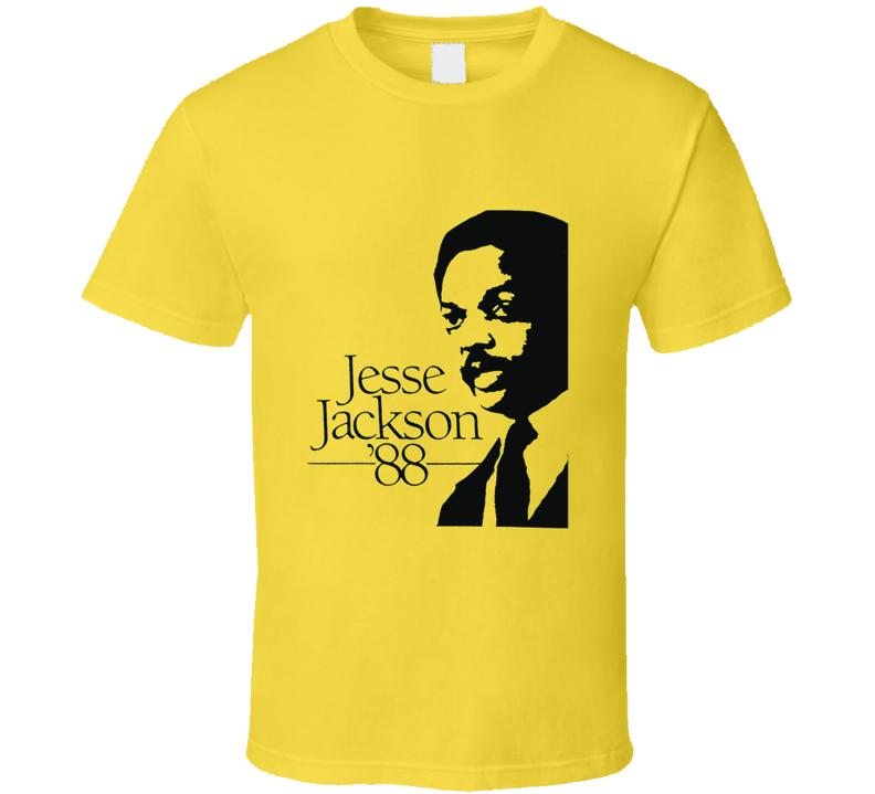Jesse Jackson Retro Campaign Poster 1988 Political T shirt