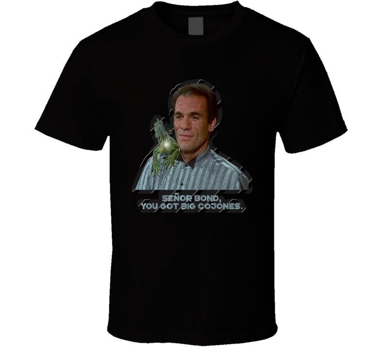 Franz Sanchez Villain OO7 James Bond Movie Film Fan T Shirt