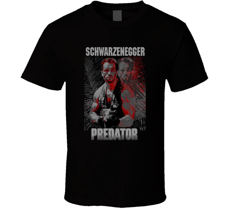 Predator Arnold Schwarenegger Movie Alien Action Fan T Shirt