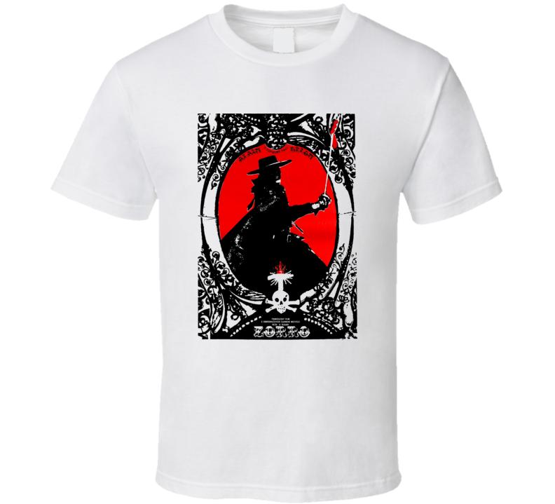 Zorro 1975 Czech Movie Poster Classic Fan T Shirt