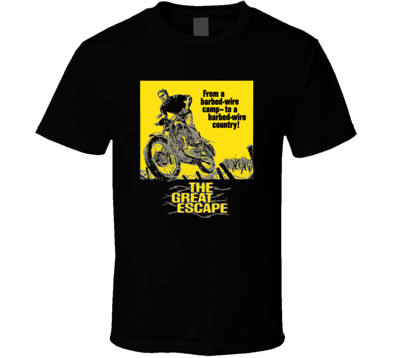 The Great Escape Steve McQueen Movie Classic Fan T Shirt