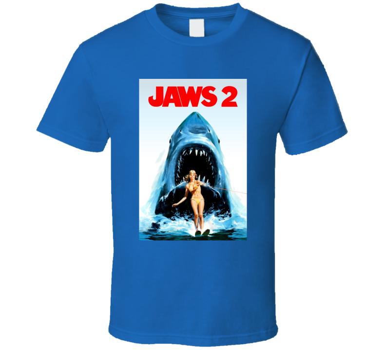 Jaws 2 1978 Classic Shark Sequel 70s Movie Fan T Shirt