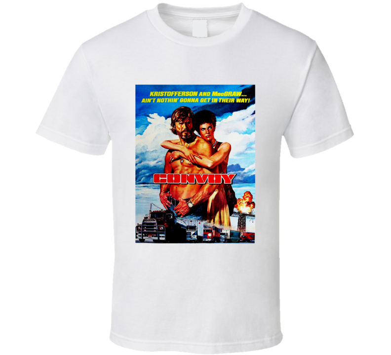 Convoy Kris Kristofferson Trucker 70s movie Full Color Fan T Shirt