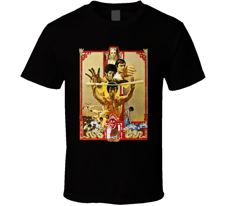 Enter The Dragon 1973 Bruce Lee Kung Fu Hong Kong Action Movie Fan T Shirt