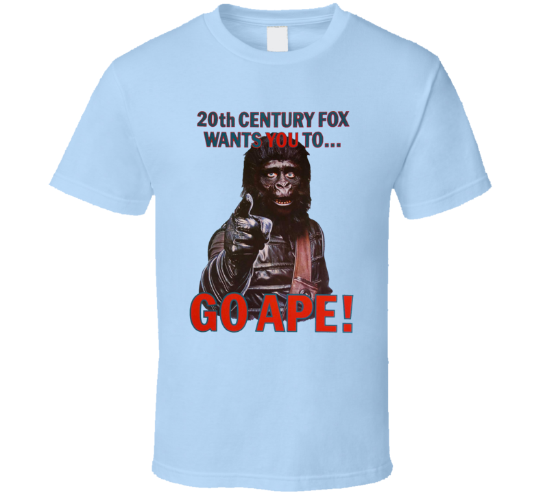 Planet Of The Apes 70s Movie Go Ape Promo Trending Fan Parody T Shirt