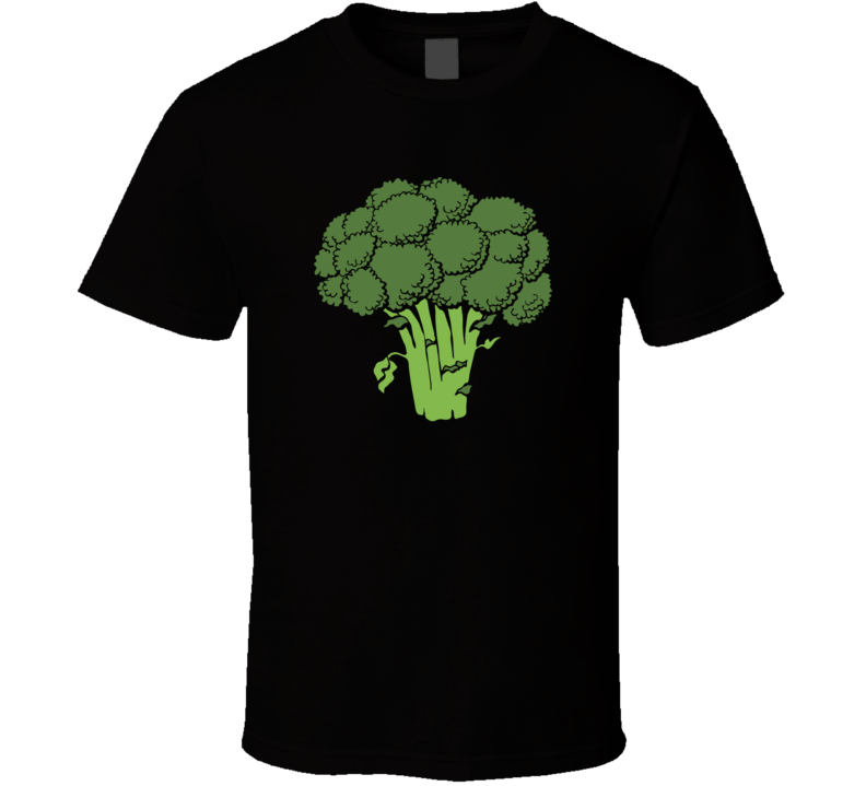 Broccoli Food Foodie Funny Vegetarian Vegan Parody T Shirt