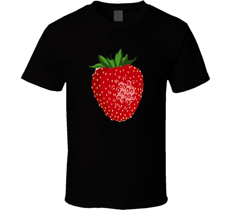 Strawberry Fruit Food Foodie Funny Vegetarian Vegan Parody T Shirt