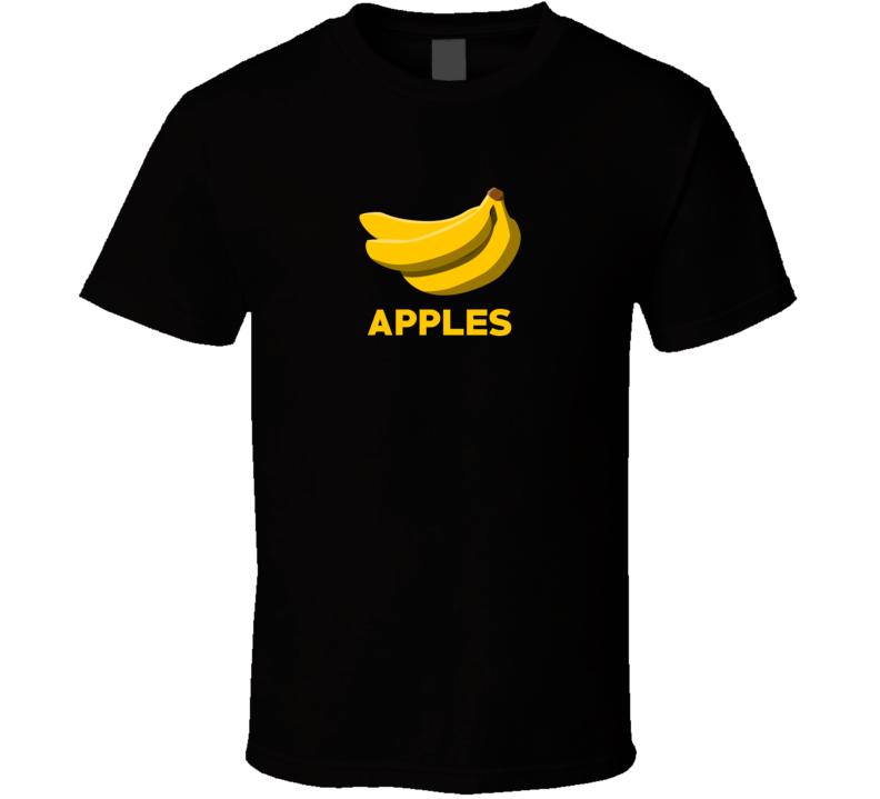 Bananas Apples Parody Funny Food Fruit Foodie Vegan T Shirt