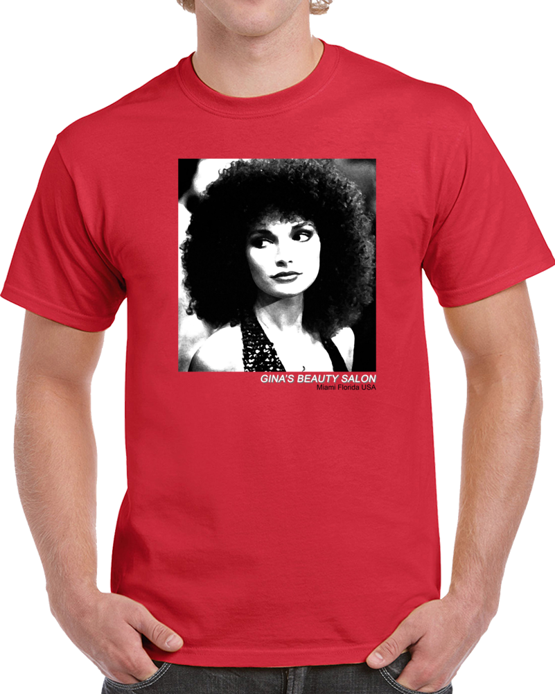 Gina's Beauty Salon Scarface Miami Florida Montana Parody Fan T Shirt
