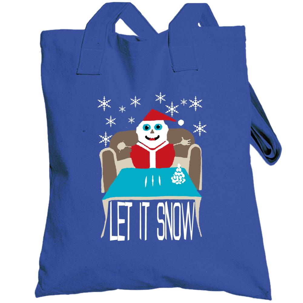 Let It Snow Christmas Funny Parody Totebag