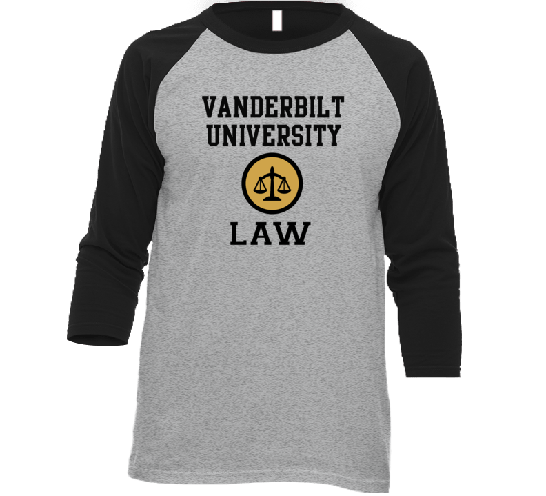Vanderbilt University Law School Graduate Raglan T Shirt