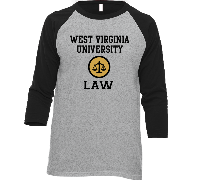 West Virginia University Law School Graduate Raglan T Shirt