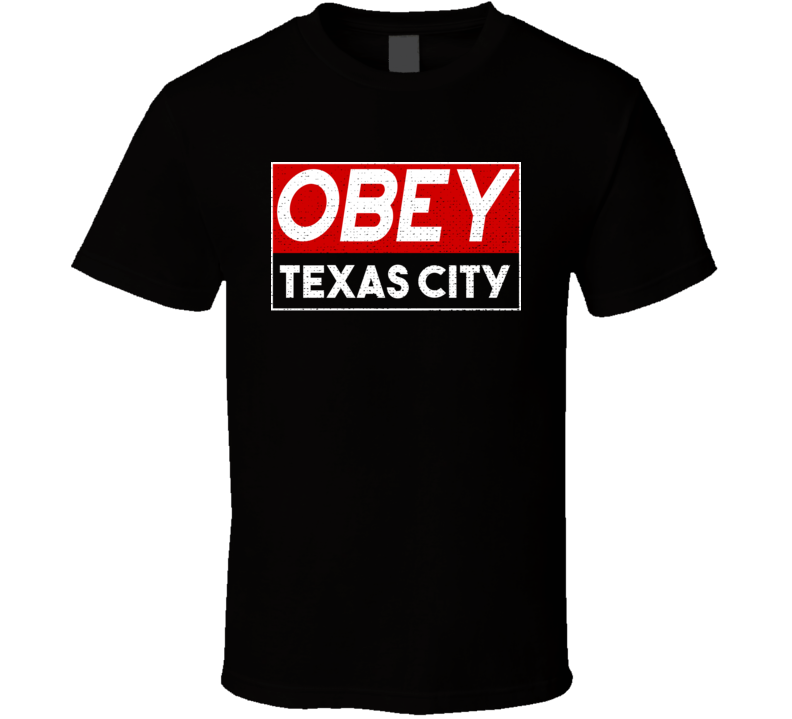 Obey Texas City Town City Proud Limited Edition T Shirt