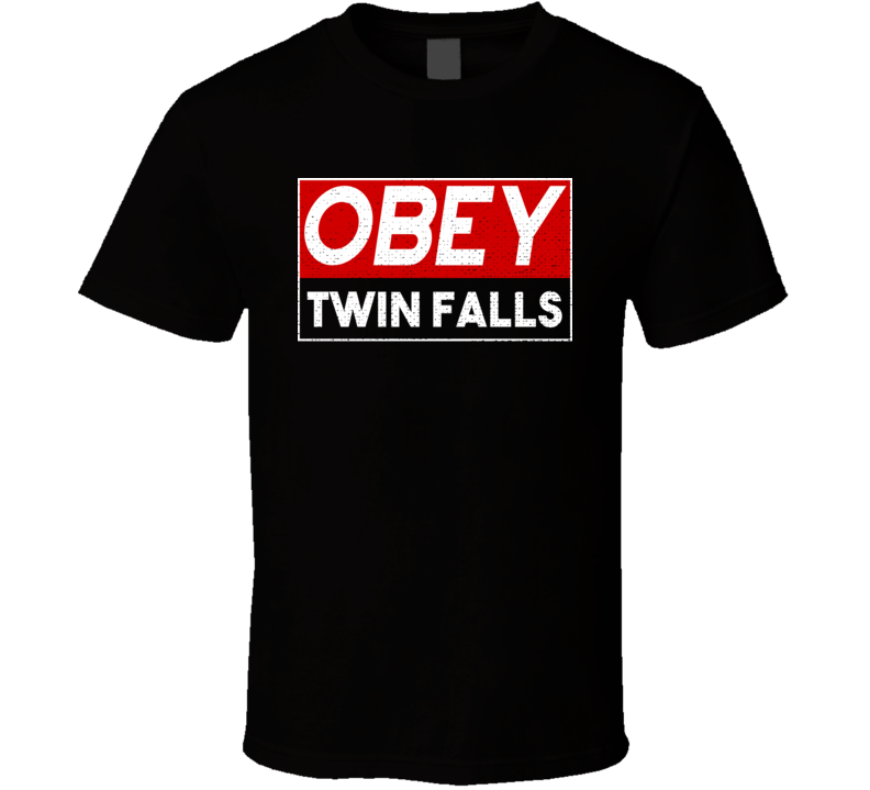 Obey Twin Falls Town City Proud Limited Edition T Shirt