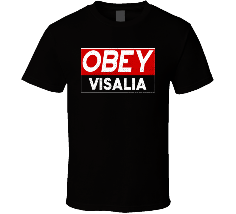 Obey Visalia Town City Proud Limited Edition T Shirt