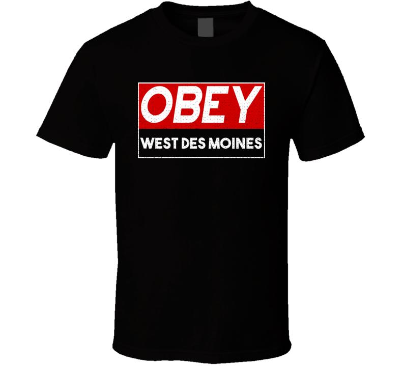 Obey West Des Moines Town City Proud Limited Edition T Shirt