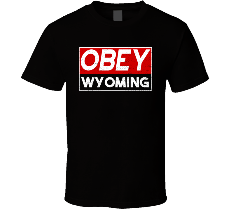 Obey Wyoming Town City Proud Limited Edition T Shirt