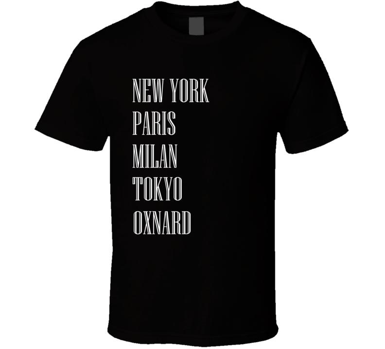 Oxnard Fashion Cities List Funny Parody City T Shirt