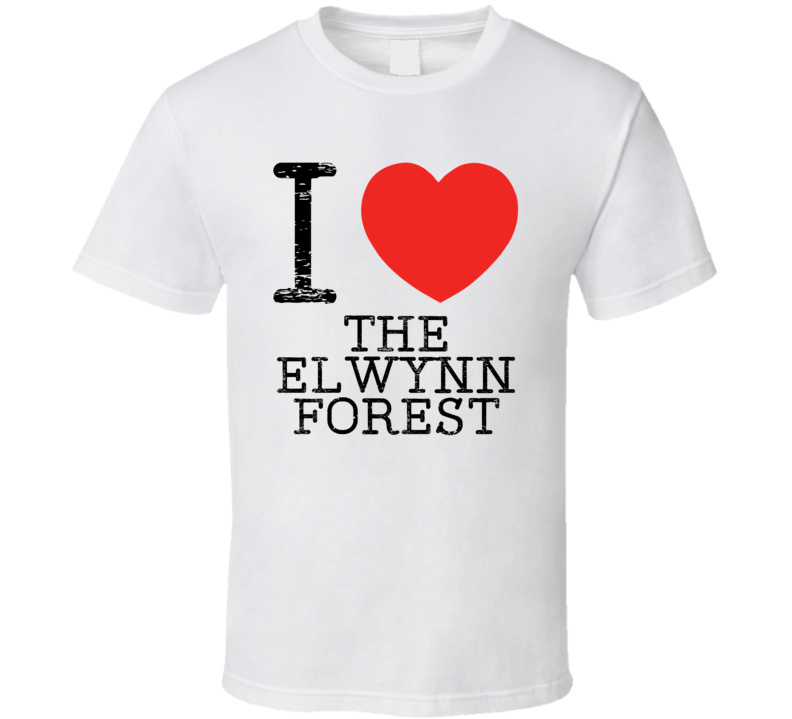 I Love The Elwynn Forest Heart Symbol World Warcraft Place T Shirt