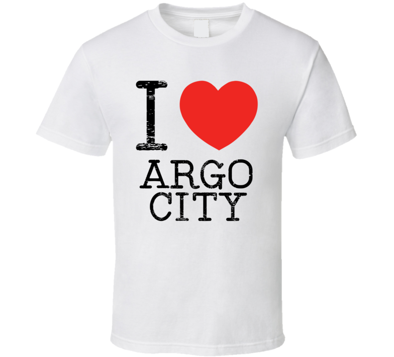 I Love Argo City Heart Symbol Comic Book City T Shirt