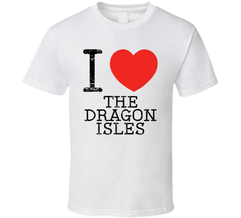 I Love The Dragon Isles Heart Symbol Dragonlance Place T Shirt