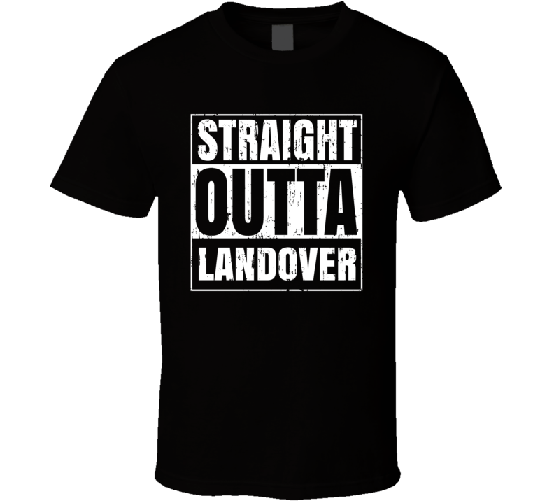 Straight Outta Landover Novel Book Places Aged T Shirt