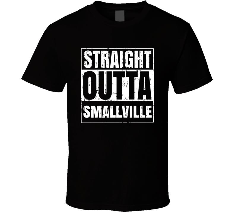 Straight Outta Smallville Comic Book City Aged T Shirt