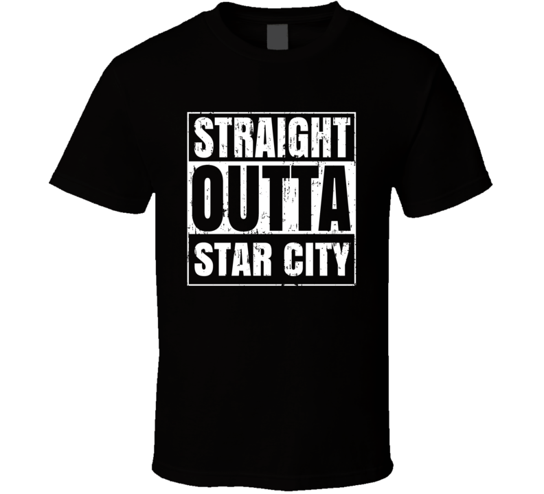 Straight Outta Star City Comic Book City Aged T Shirt