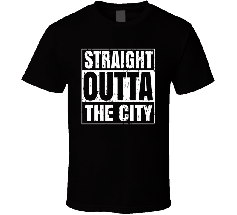Straight Outta The City Comic Book City Aged T Shirt