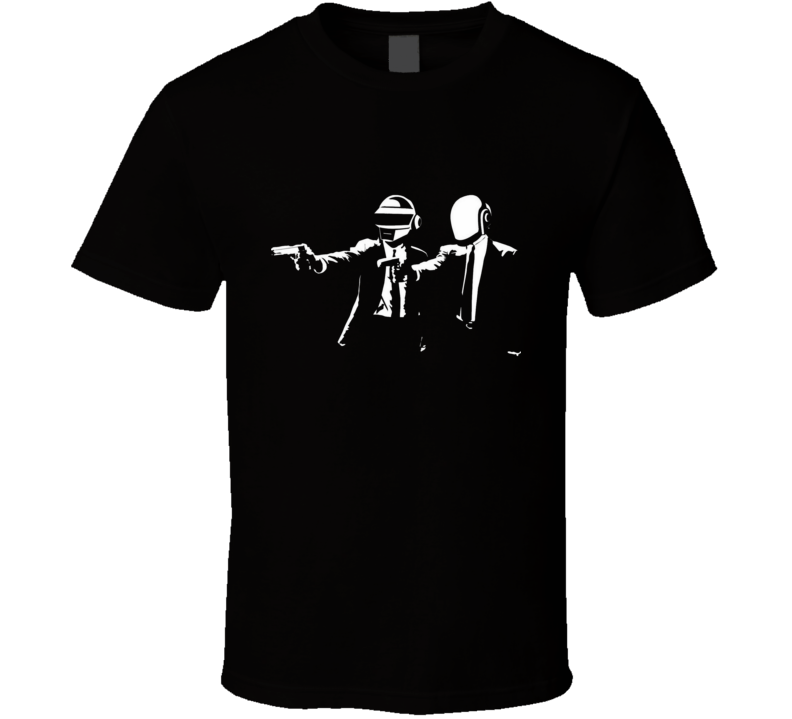 Daft punk duo house music artist in Pulp fiction vincent and Jules movie parody T Shirt