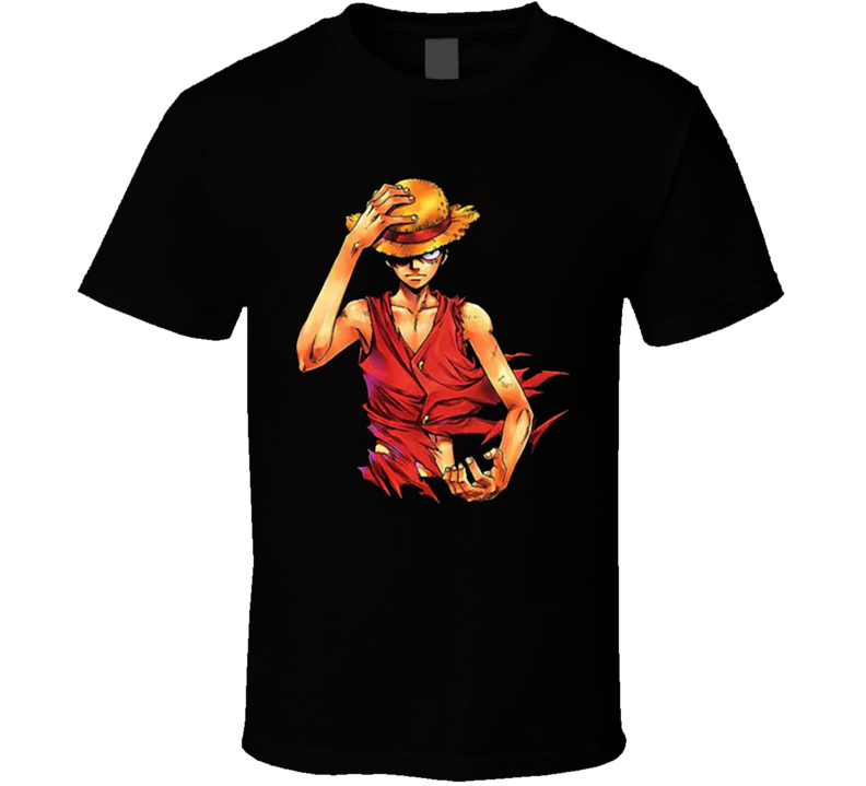 Angry serious Monkey D. Luffy straw hat One Piece Pirate king T Shirt