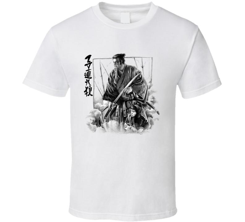 Shogun Assassin Lone wolf and cub itto ogami daigoro-Tomisaburo Wakayama T Shirt
