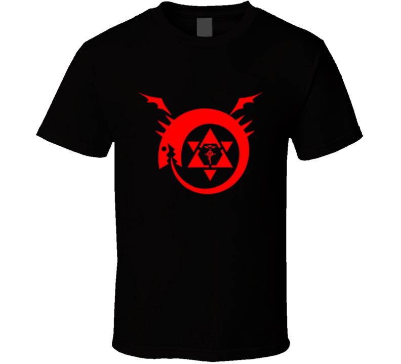 homunculus logo serpent devour it tails fullmetal Alchemist Hiromu Arakawa anime japanese manga T Shirt
