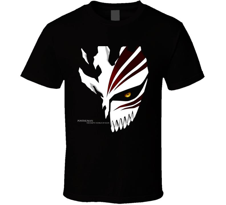 Post Human Ichigo kurosaki scatter shinigami hollow mask Bleach manga T Shirt