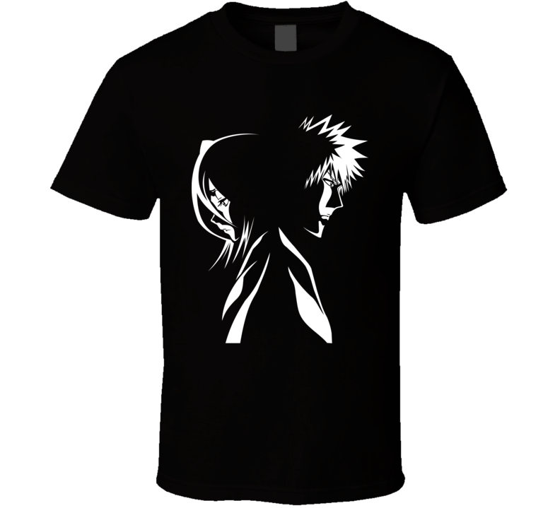 Kurosaki Ichigo and kuchiki Rukia Soul society shinigami Bleach anime T Shirt