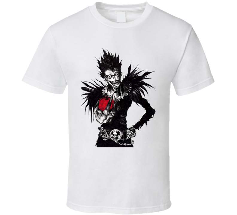 Death slayer god reaper Shinigami Ryuuk with an apple Death Note manga anime T Shirt