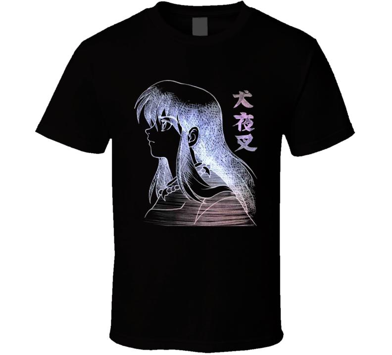 Feudal Fairy Tale InuYasha the half demon Dog human form Sketch T Shirt