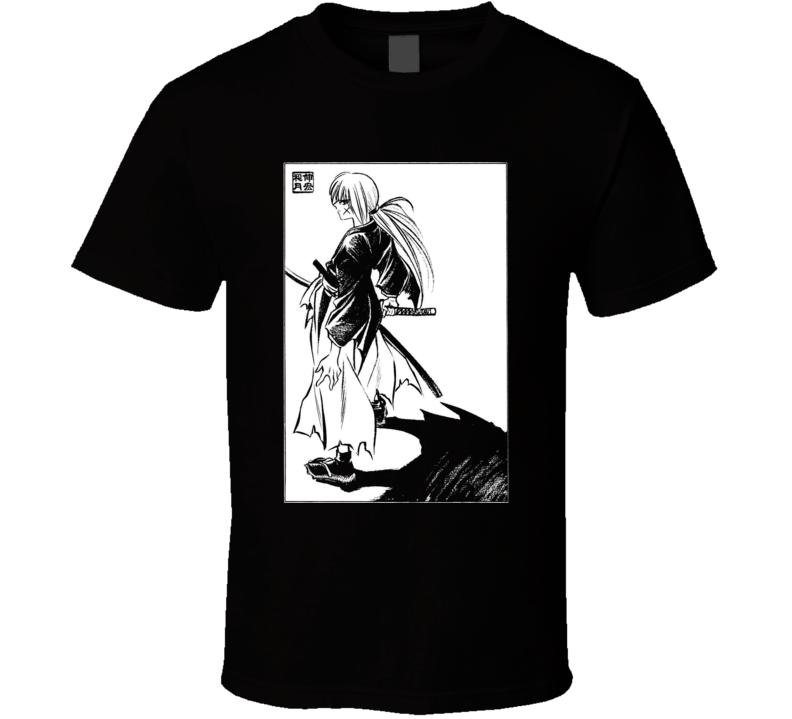 Himura Batosai Rurouni Kenshin Samurai x T Shirt