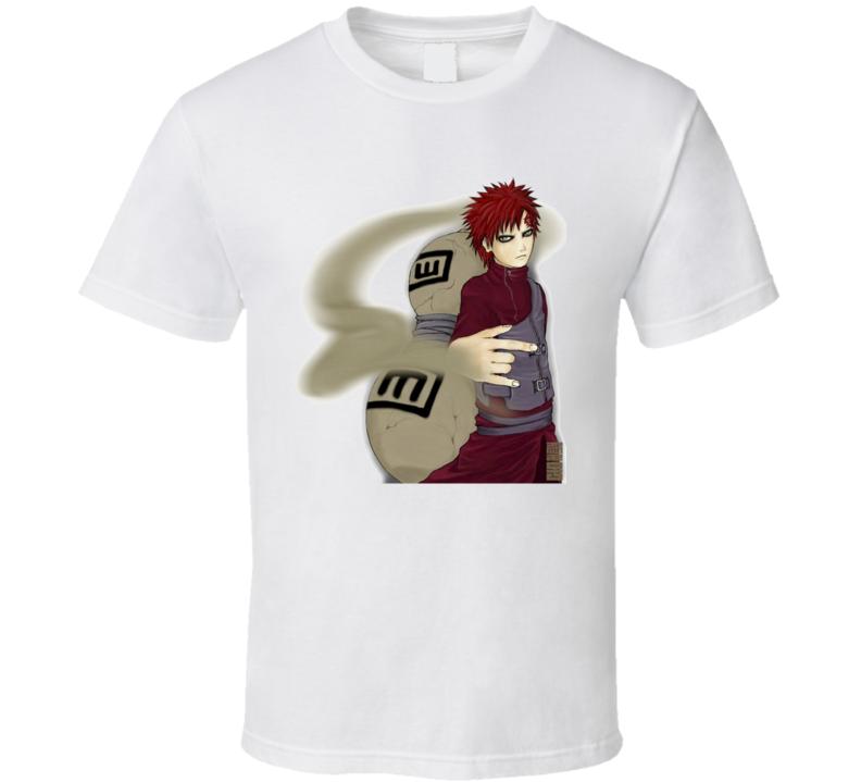 Gaara of the Desert sand jinchuriki of Shukaku Fifth Kazekage Naruto  T Shirt