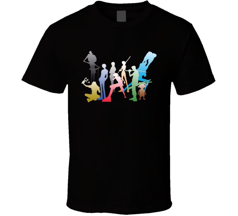 Straw Hat Pirates Member Luffy Zoro Nami Usop Sanji Chopper Robin Franky and Brook One Piece T Shirt