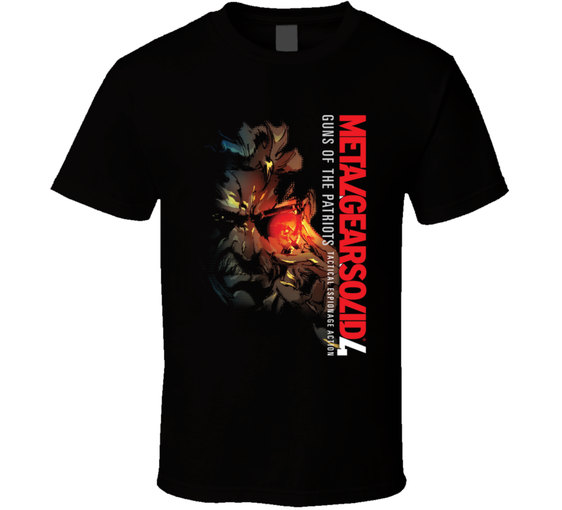 Metal Gear Solid 4 Solid Snake T Shirt