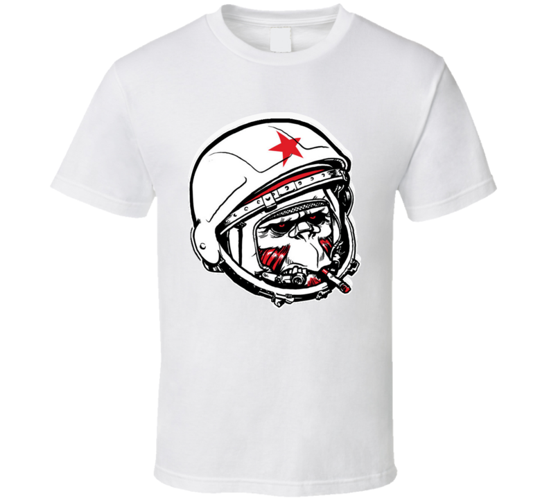 Smooking Monkey Cosmonaut T Shirt